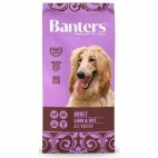 BANTERS DOG LAMB RICE 15KG